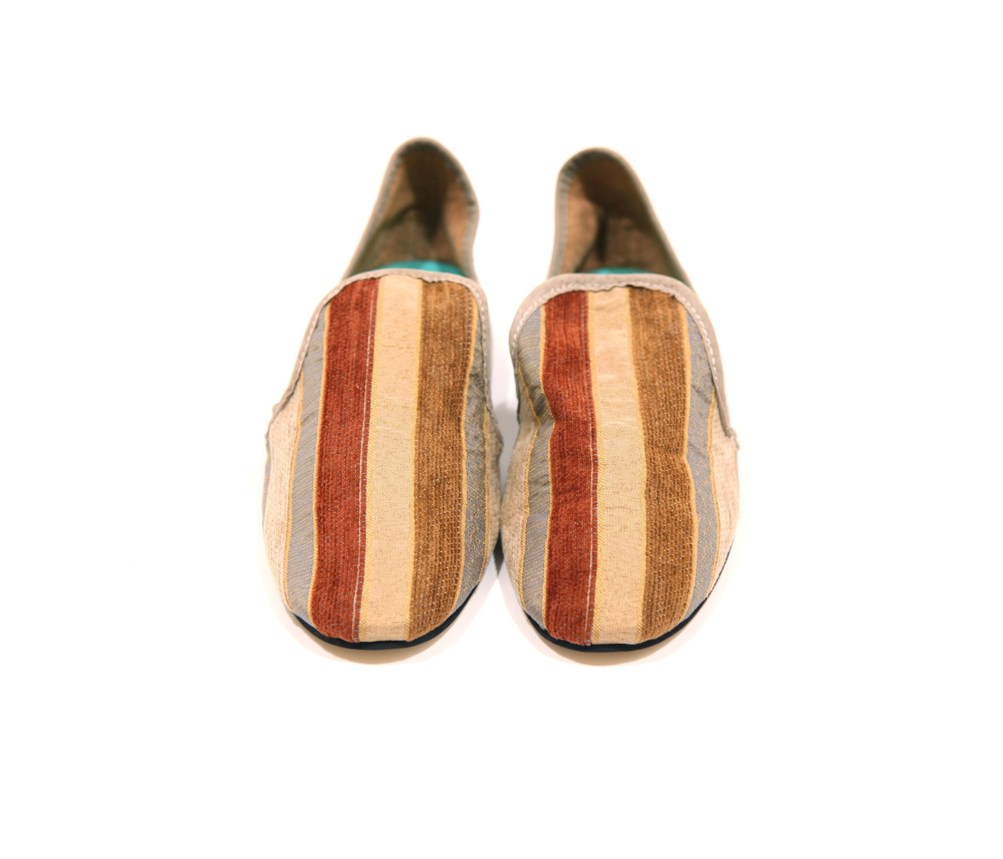 "Moroccan ""Albert Stripes"" Smoking Slippers"