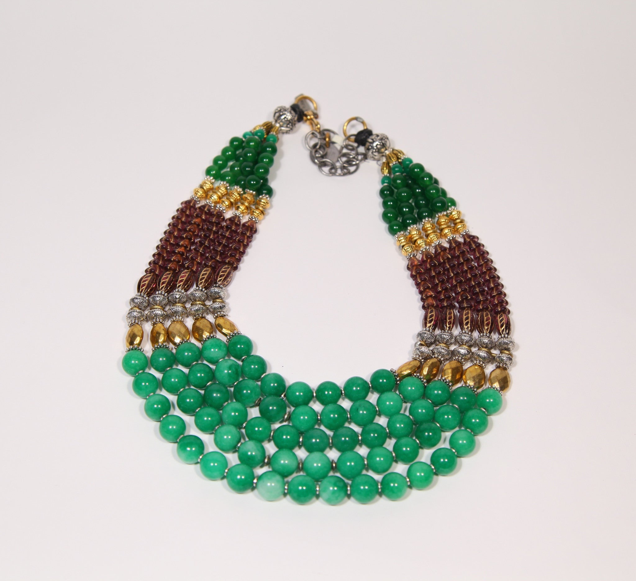 Green Season Collar #19K - Grape and Green Series 2 - Inspired Luxe