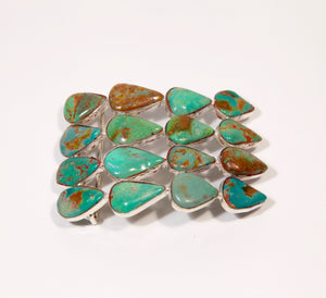 Large Chinese Turquoise Belt Buckle - Inspired Luxe