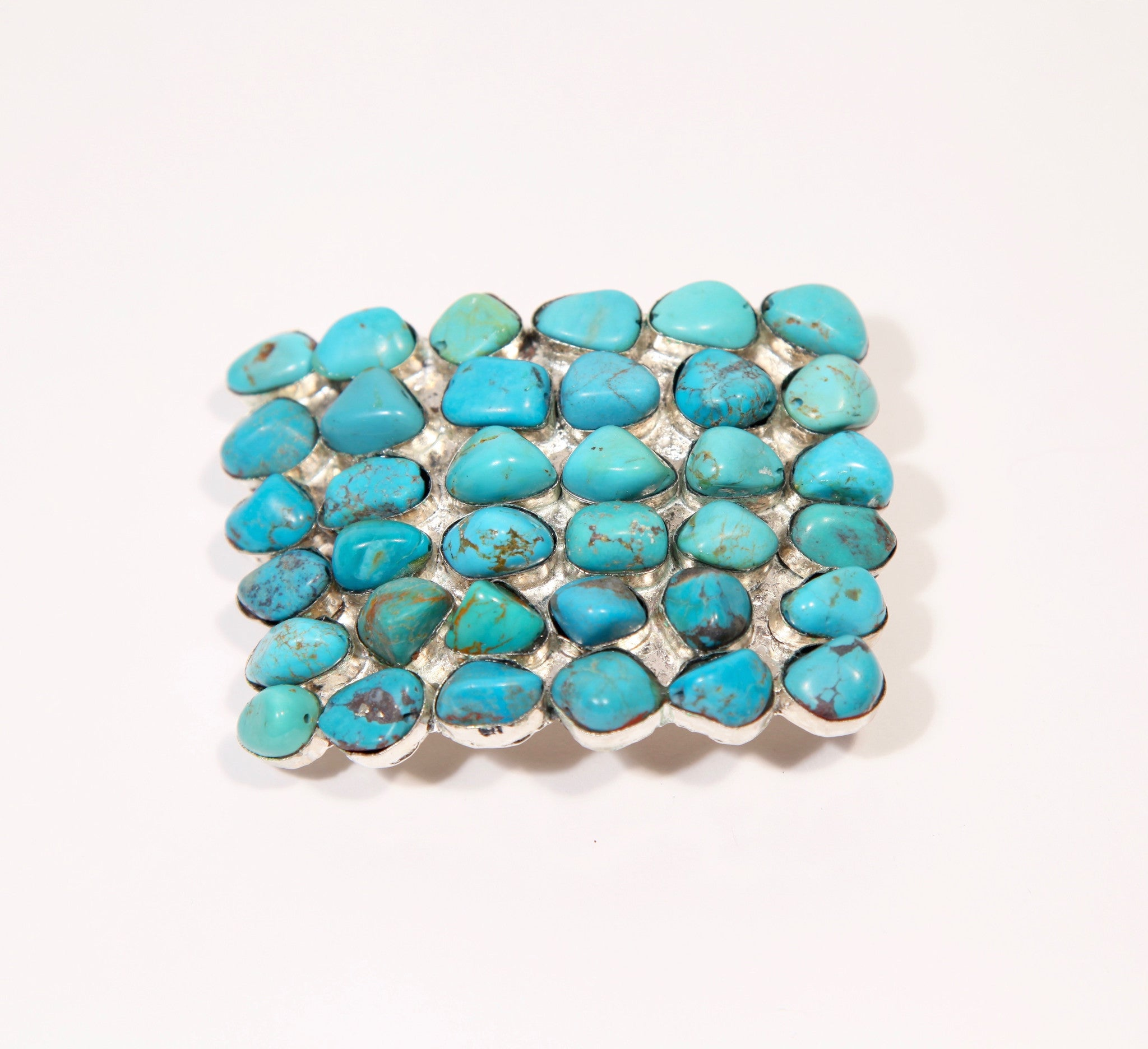 Large Turquoise Belt Buckle - Inspired Luxe