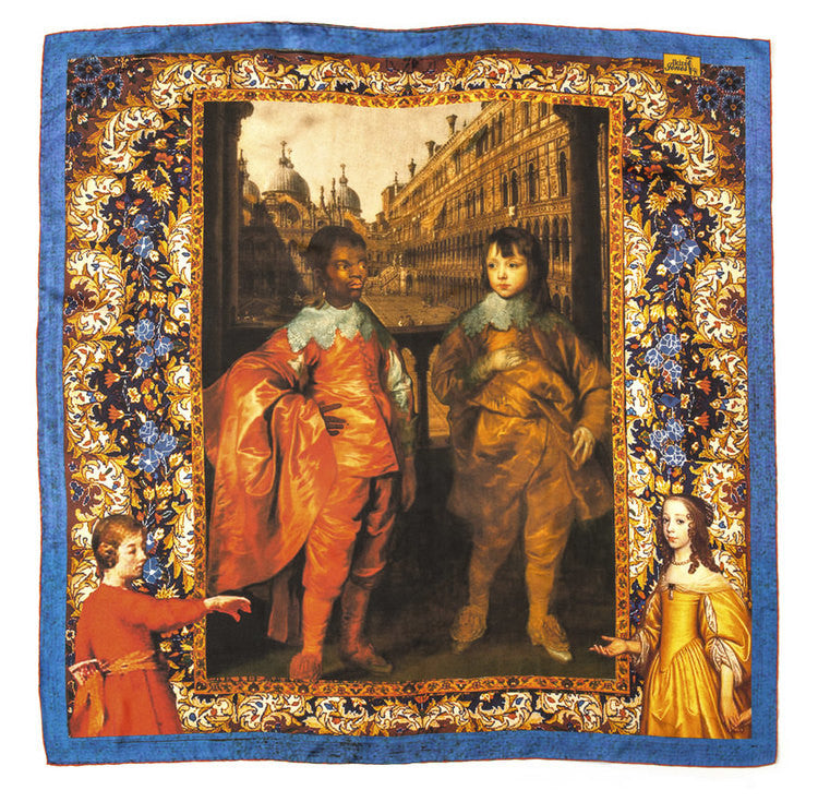 Square Scarf - Portrait of the Ambassador's Illegitimate Son - Inspired Luxe