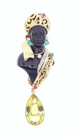 Ribat Blackamoor Brooche