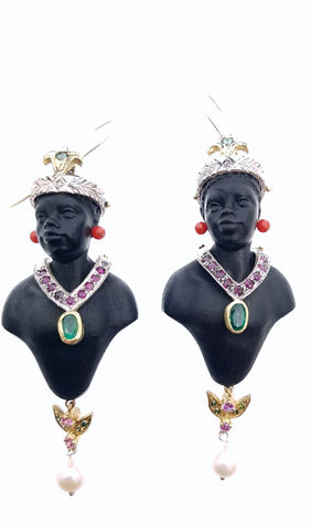 Venetian Blackamoors Bust Earrings