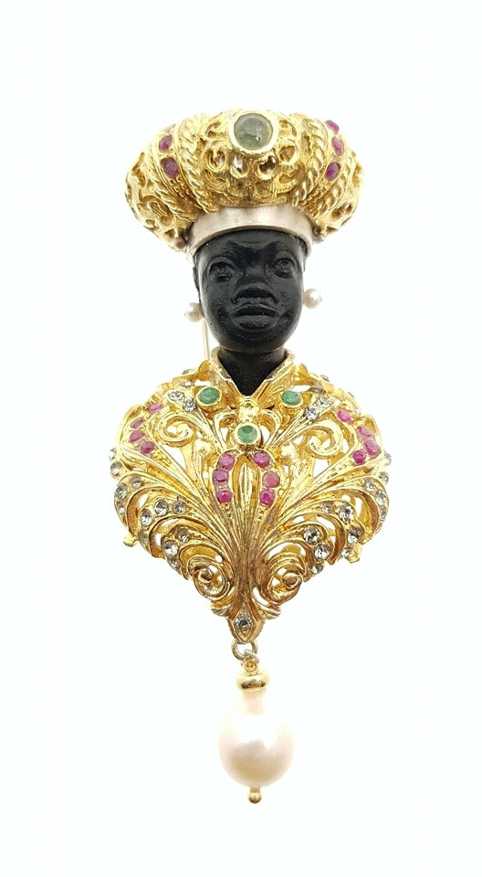 Blackamoor Brooch - Inspired Luxe