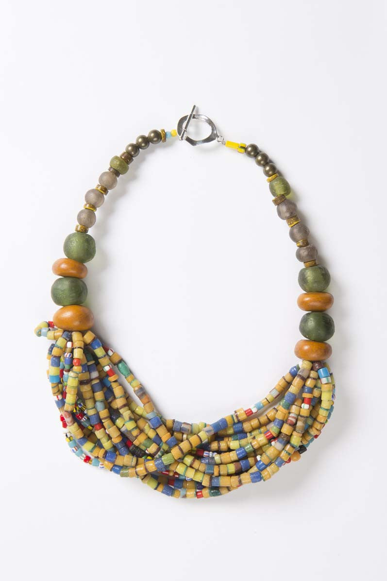 Choker - One Africa (yellow) - Inspired Luxe