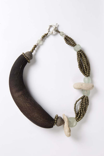 Organic Collection - Gourd and Stone Necklace - Inspired Luxe