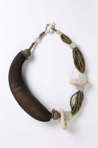 Organic Collection - Gourd and Stone Necklace