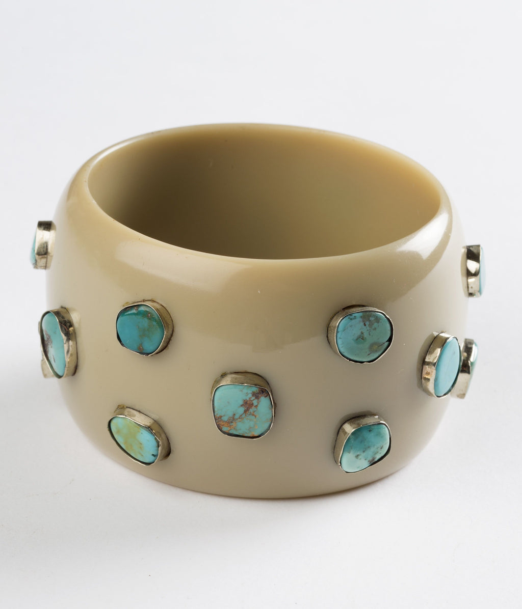 Bangle (Tan Sand with Turquoise) - Inspired Luxe