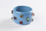 Bangle (Blue Cerulean with Multi-Colored Hydro Quartz) - Inspired Luxe