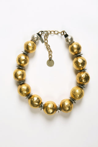 Cameroon Gold Wreath Necklace