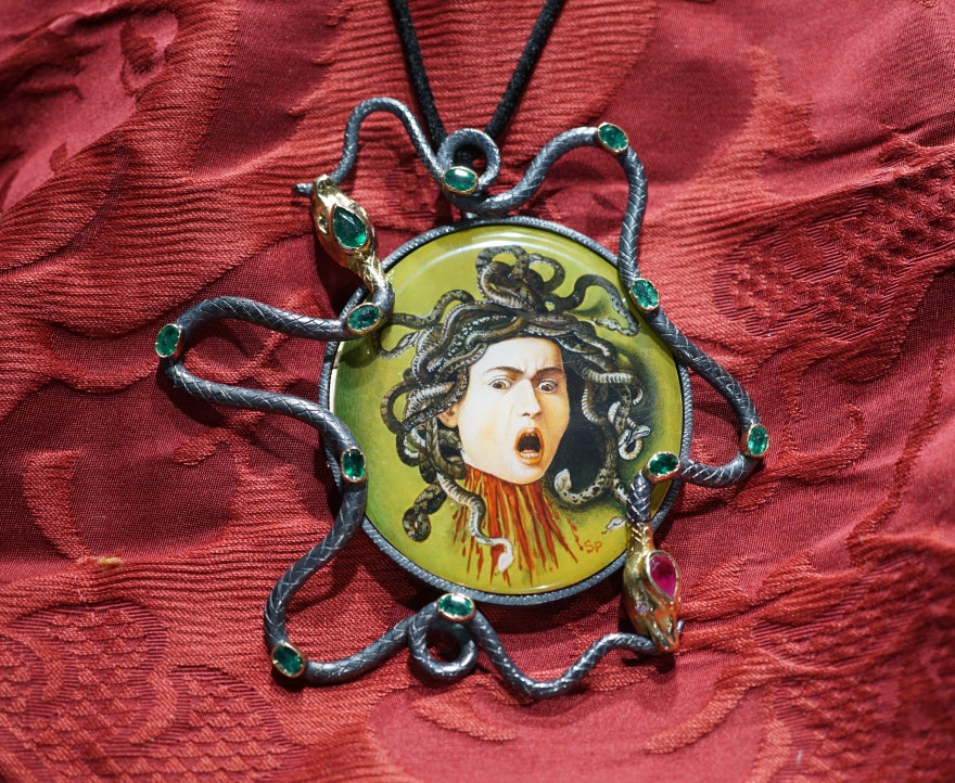 Hand Painted Medusa of Caravaggio - Inspired Luxe