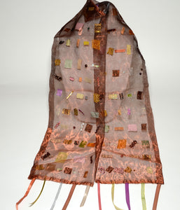 Textile Mosaic Scarf - Bronze - Inspired Luxe