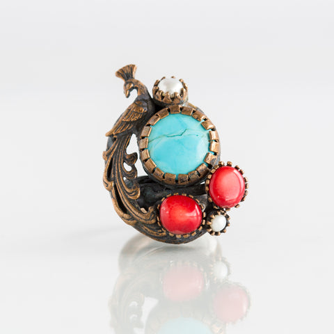 Bronze Pearl Turquoise