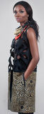 Christie Brown - Stenciled Sleeveless Coat - Inspired Luxe