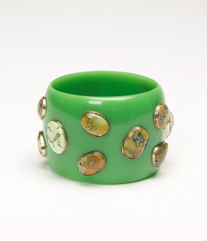 Bangle (Green Chartreuse with Turquoise)
