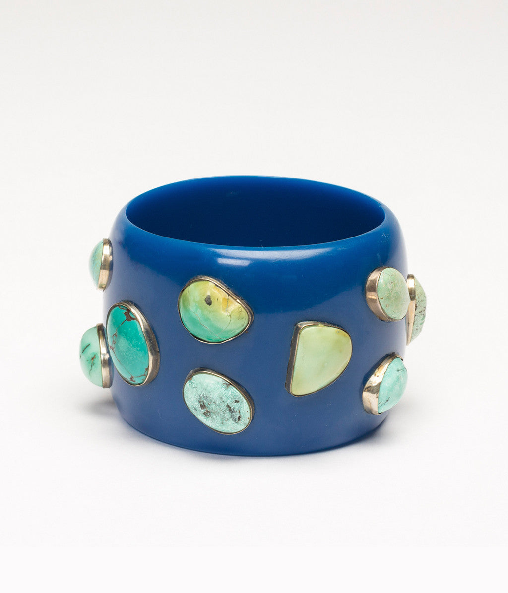 Bangle (Blue Blueberry with Turquoise) - Inspired Luxe