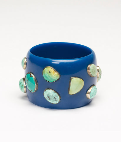 Bangle (Blue Blueberry with Turquoise)