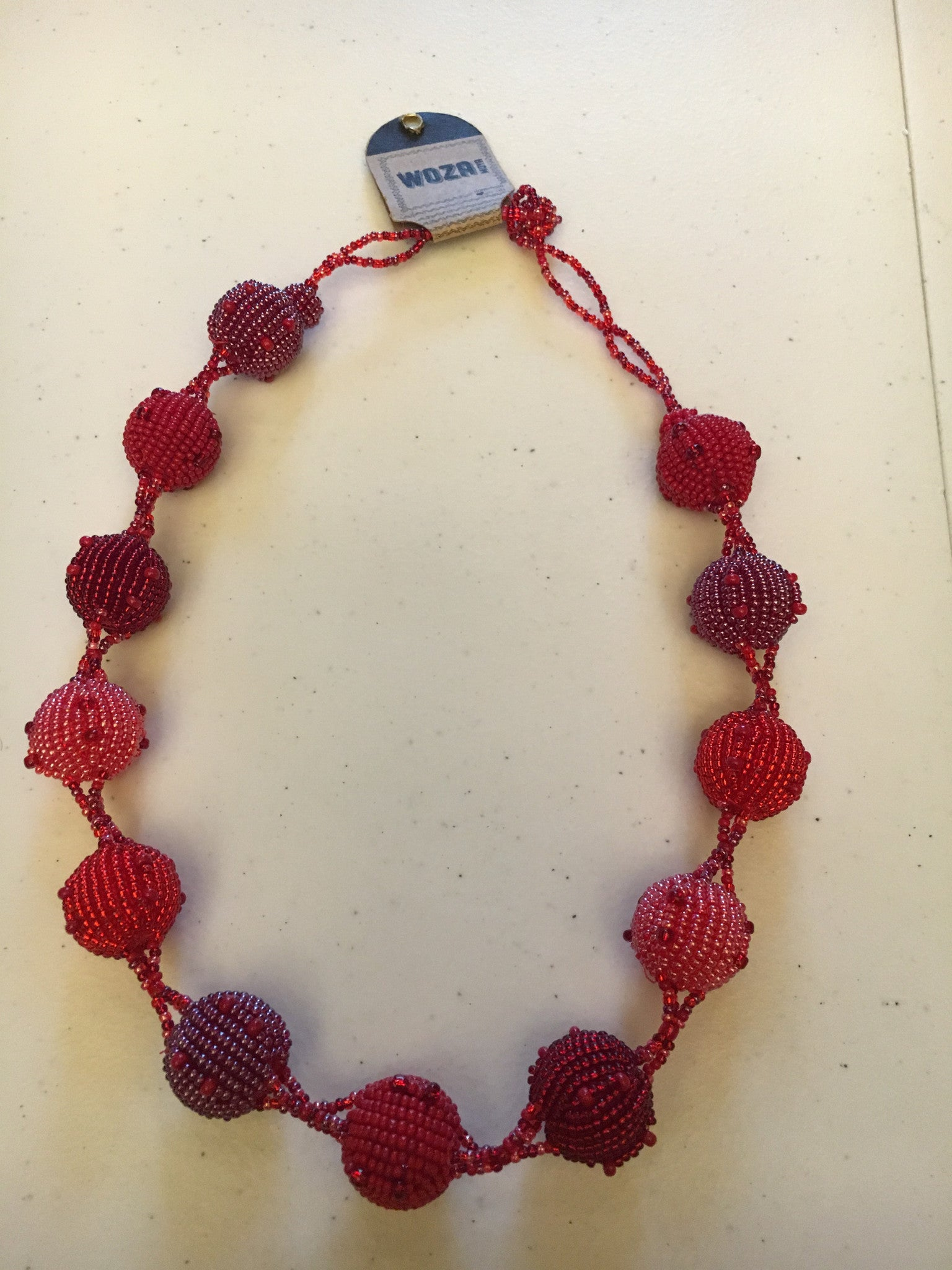 Fruit Ball Necklace - Shades of Red: Cranberry, True Red, Pink Red - Inspired Luxe