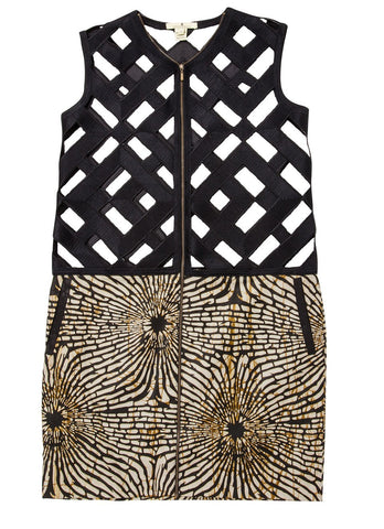 Christie Brown - Stenciled Sleeveless Coat