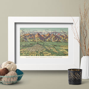 Lucky Onion Colorado Love Wall Art Prints Denver Front Range Mountains 100 Miles of Peaks