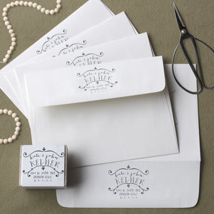 Lucky Onion Custom Rubber Stamps for Wedding Invitations, Save the Dates, and New Home Addresses