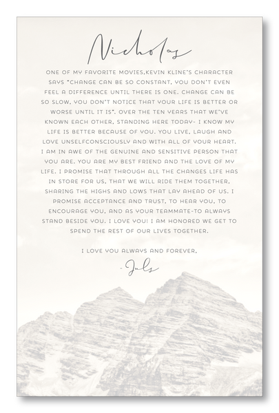 Lucky Onion Aspen Mountain Virtual Elopement Wedding Vows
