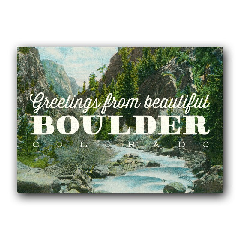 Postcard: Boulder Canyon