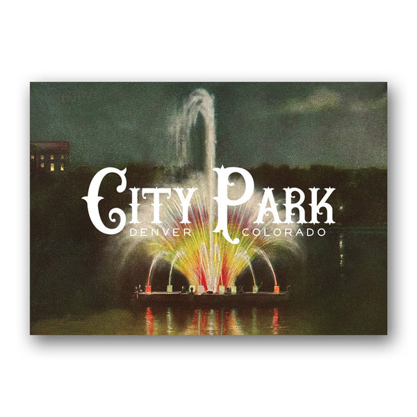 Postcard: City Park Fountain
