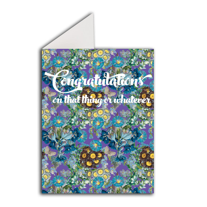 Greeting Card: Congratulations On That Thing Or Whatever