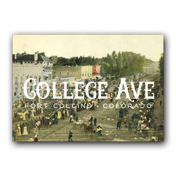 Postcard: College Ave FOCO