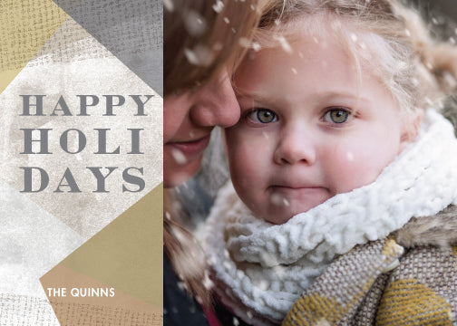 Holiday Photo Card: Happy Layers