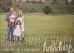 Holiday Photo Card: Happy Times