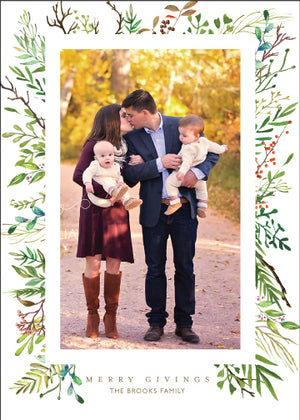 Holiday Photo Card: Holiday Laurels