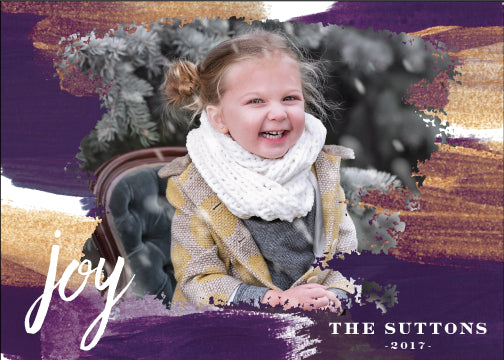 Holiday Photo Card: Painterly Wishes