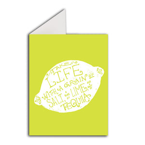 Greeting Card: Grain of Salt Lime