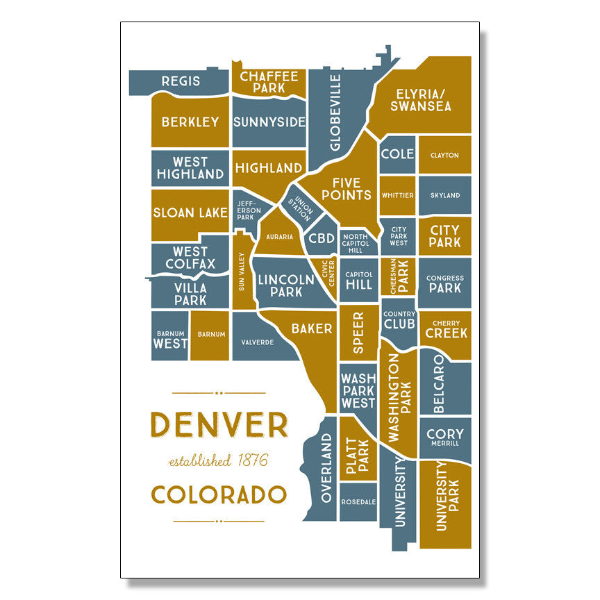 Print: Denver Neighborhoods Map