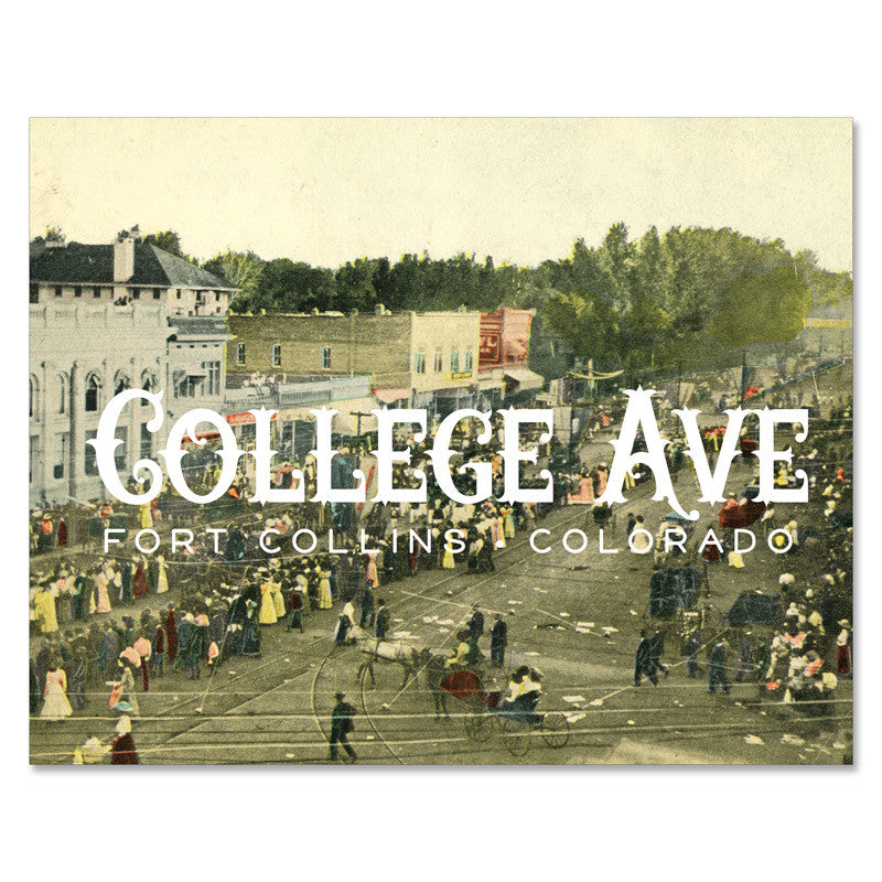 Print: College Ave Fort Collins