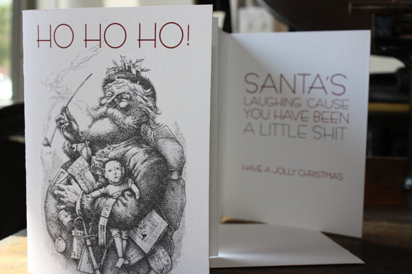 Greeting Card: Ho Ho Ho - Holiday Humor
