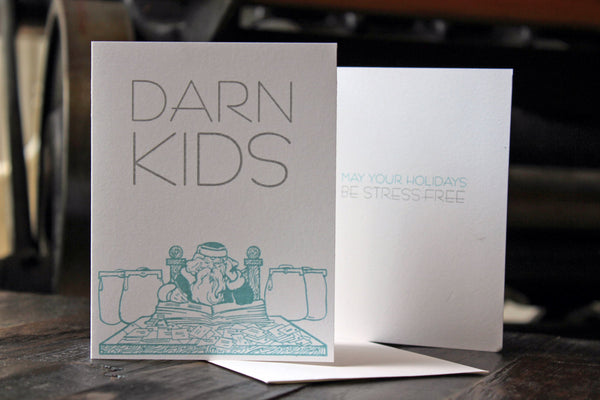 Greeting Card: Darn Kids - Holiday Humor