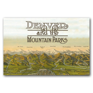 Print: Denver and the Mountain Peaks