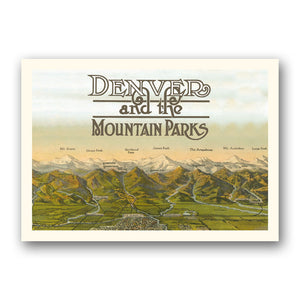 Postcard: Denver and Mountain Parks