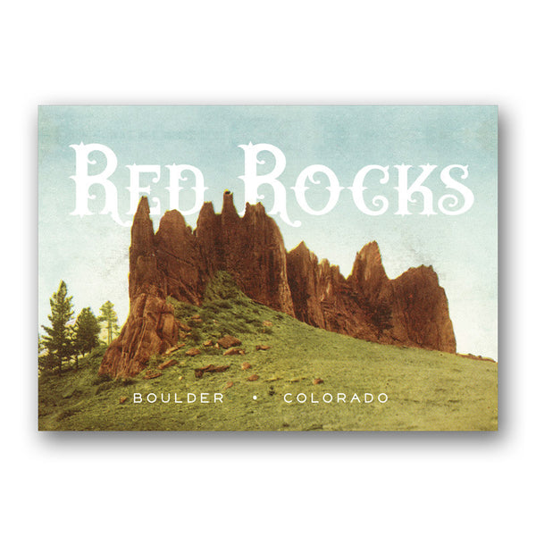 Postcard: Red Rocks Boulder