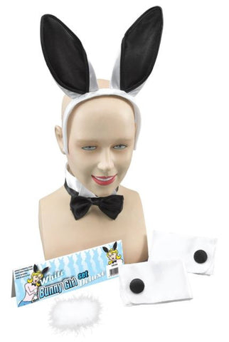 White/ Black Bunny Girl Set