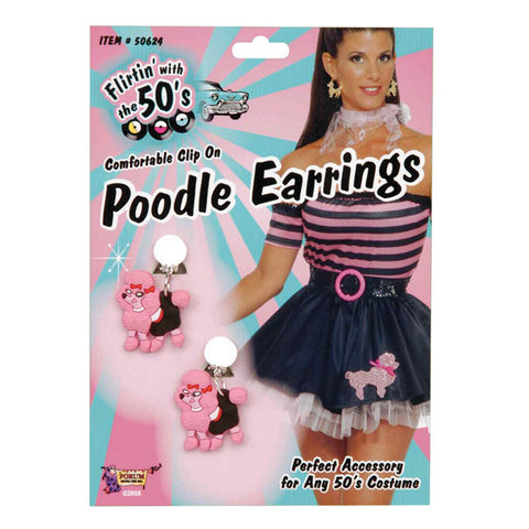 Poodle Earrings