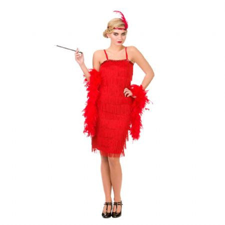 Red Jazzy Flapper Costume