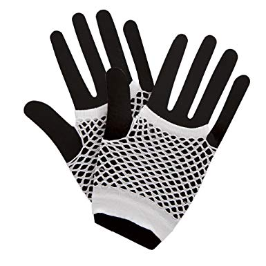 White 80's Net Gloves