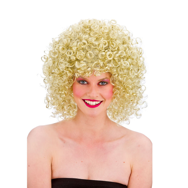 Blonde 80's Disco Perm Wig