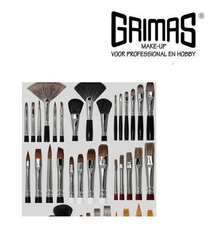 Grimas Red Sable Hair Brushes