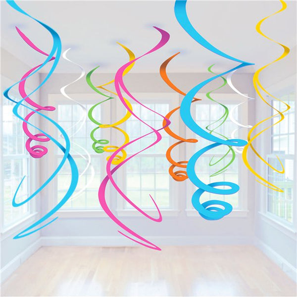 Multicoloured Swirl Decorations
