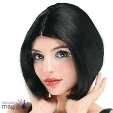 Centre Parting Black Wig